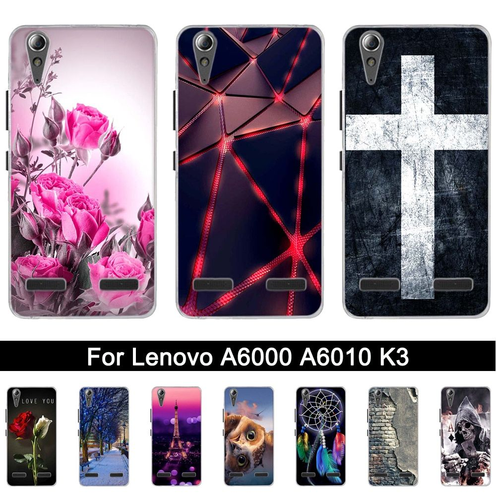 Soft Silicone Case for Lenovo A6010 A6000 Back Phone Case Cover for Lenovo Lemon K3 K30-T TPU Shells For lenovo a6010 a6000 5.0""