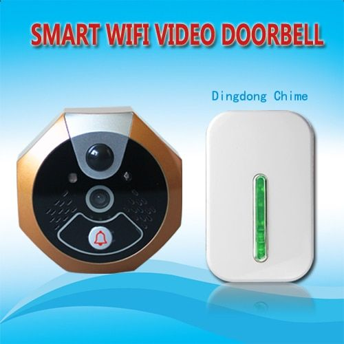 Wireless WiFi Video Doorbell Viewer for Smart Home Security Video Intercom via Cellphone App Remote Control