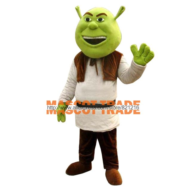 New Shrek Mascot Costume Adult For Halloween! Free shipping