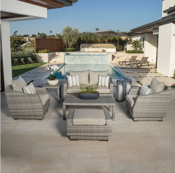 Sigma royal furniture sofa set outdoor seats rattan garden furniture