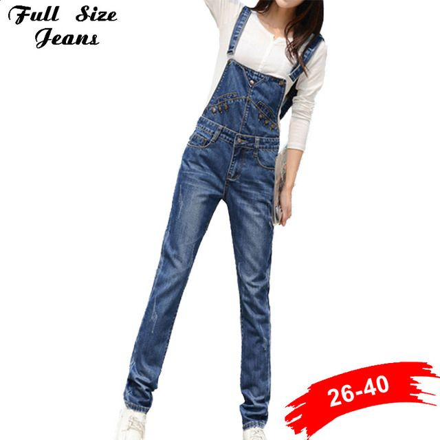 Pantalon Denim Jeans Femme Fashion 2017 Loose Ripped Jeans Femme Plus Size Dungarees Bib Overalls For Women Xxxl 36 4Xl 5Xl Xxxl