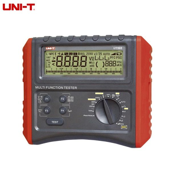 Uni-T UT595 Multifunction Loop Tester Earth Ground Line Loop Impedance Tester Insulation Resistance Meter