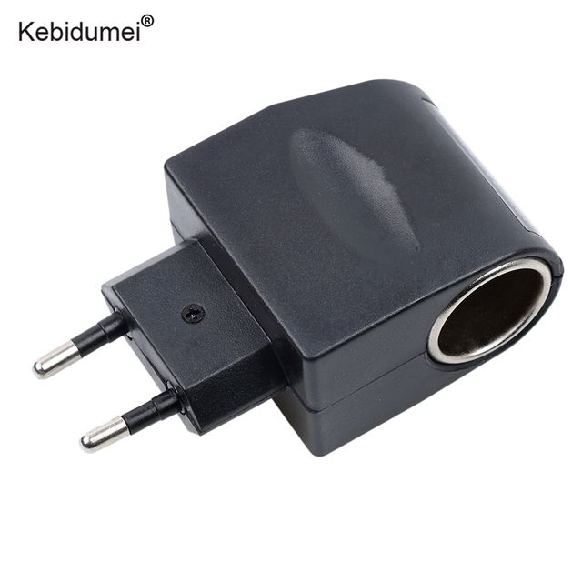Kebidumei Car Household Power Adapter Converter 100-240V 100-240V AC to 12V DC 6W EU/US Household Car Cigarette Lighter Socket