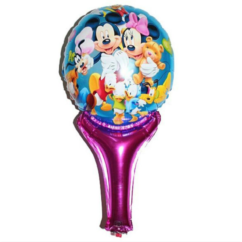 New  Minnie Mickey balloons inflatable air toys helium balloons for baby kid toy stick clapper , party supplies baby boy shower
