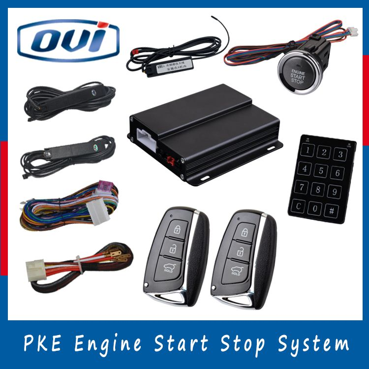 High quality car central locking keyless entry system one way car alarm remote start stop