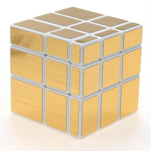 Original ShengShou Magic Cube 3x3x3 Mirror Sticker Speed Puzzle Gold Cubo Magico Profissional Learning & Education Toys