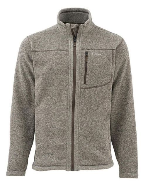 2016 New Men Simms Jacket Brand Casual Jackets Sportswear Outwear Rivershed Sweater Full Zip Plus USA Size XXL Gray