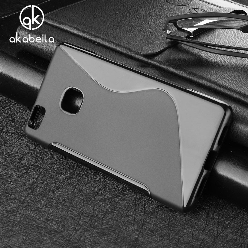 AKABEILA Cases For Huawei P9 Lite P9 Mini G9 G9 Lite VNS-L21 VNS-L22 VNS-L23 Cover Cell Phone Bags Black Soft TPU Silicon Skin