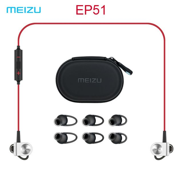 In Stock Original Meizu EP51 Sport Bluetooth Earphones Stereo Headset Nano Waterproof Aluminium Alloy For iOS Android Phones