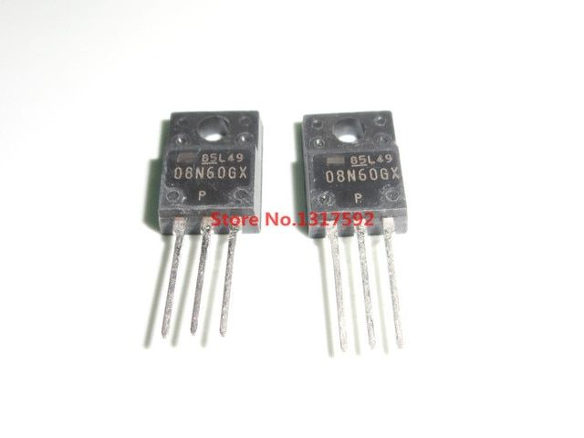 5pcs 08N60GX TO-220F 100% new original