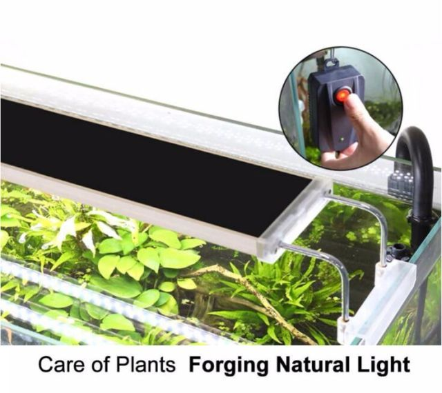 SUNSUN ADS Aquarium Plant LED Lighting Light Aquatic Chihiros 7500K 12W 18W 24W Ultra thin Aluminum Alloy  Fish Tank 220V 50HZ