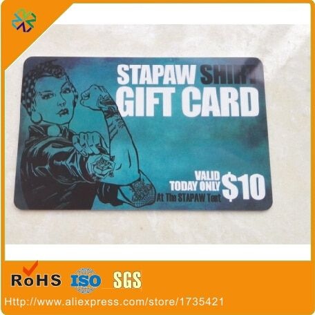 2017 Hot Customized Design silk-screen printing pvc/plastic VIP cards gift cards