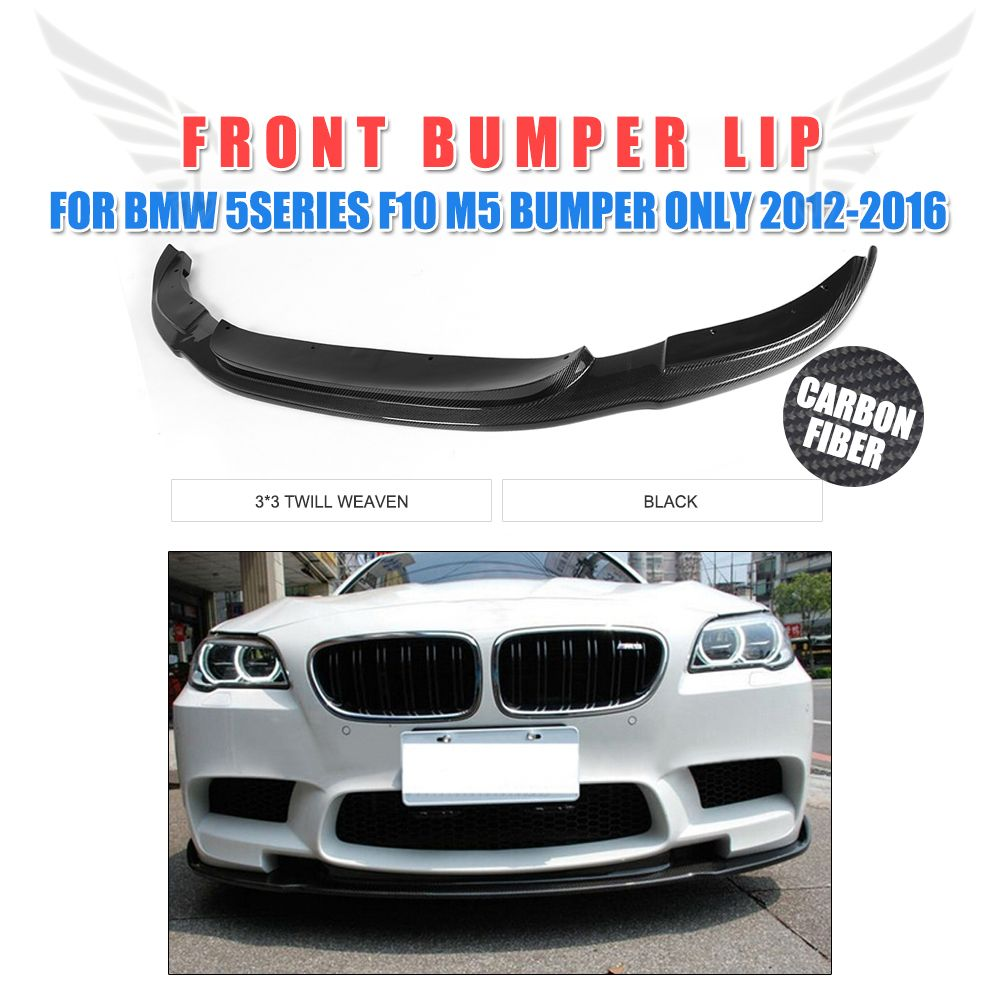 Carbon Fiber Front Bumper Chin Lip Spoiler for BMW 5 Series F10 M5 Bumper Only 2012-2016 Car tuning Parts