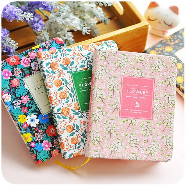 Korean Floral Vintage Flower Schedule Book Diary Weekly Monthly Planner Organizer Notebook Kawaii Stationery A5 A6 Agenda 2017