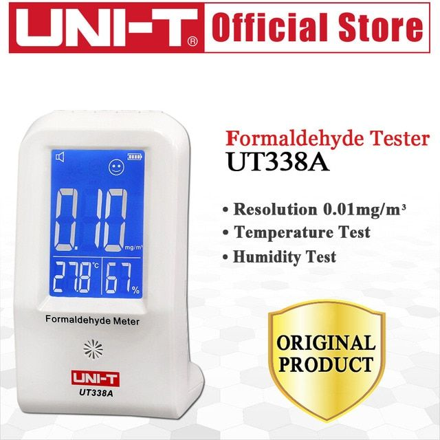 UNI-T UT338A High Precision Indoor Formaldehyde Meter Formaldehyde Data Logger Detector Air Monitor Thermometer Hygrometer LCD