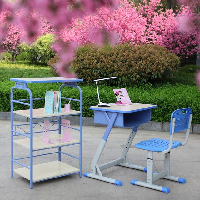 Children study table desk job child can lift student desks and chairs for children Set
