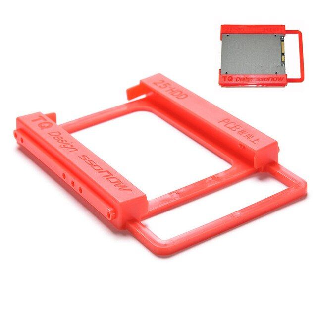 "2.5"" To 3.5"" Plastic SSD Bracket Converter Laptop Notebook External Hard Disk Drive HDD Holder SSD Mounting Rail Adapter"