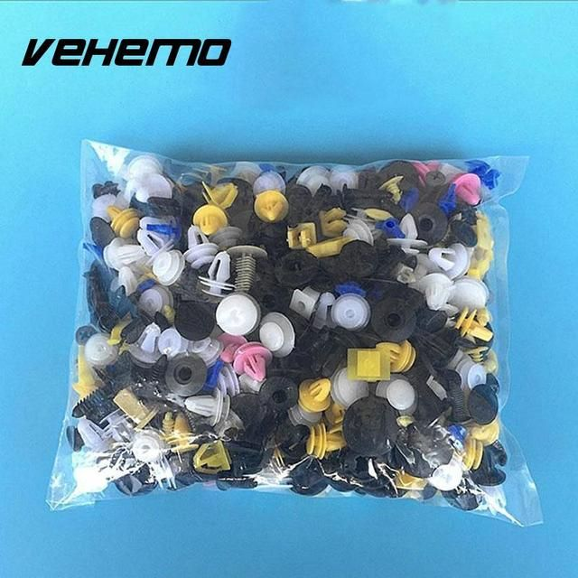 Vehemo 150 Pcs Bumper Fender Cover Automotive Plastic Auto Trim Clip Fasteners For Cars Car-styling