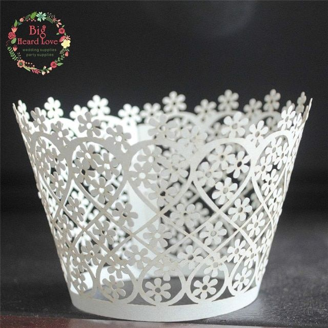 25pcs Wedding paper cake art paper cake paper cupcake wrapper,laser cut cup cake wrapper,baby party shower  cup cake