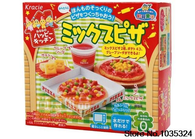 New 2016 pizze+cola taste popin cookin japanese food sweets DIY handmade candy food 6 kinds of taste Free shipping