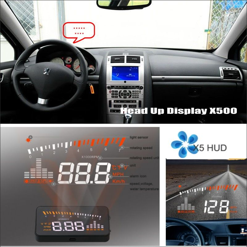 Liislee Car Projector Screen For Peugeot 406 407 2D coupe / 4D Sedan Safe Driving Refkecting Windshield HUD Head Up Display