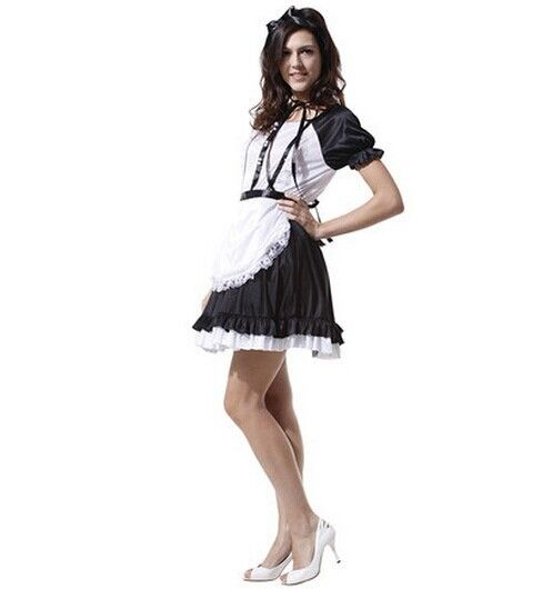 french maid costume sissy maid uniform maids dress adult costumes black white halloween costumes for women performance dress