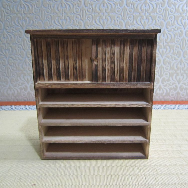 Wooden Cabinet Antique Ornament Handmade Home Furnishing Living Room Mini Furniture Model New