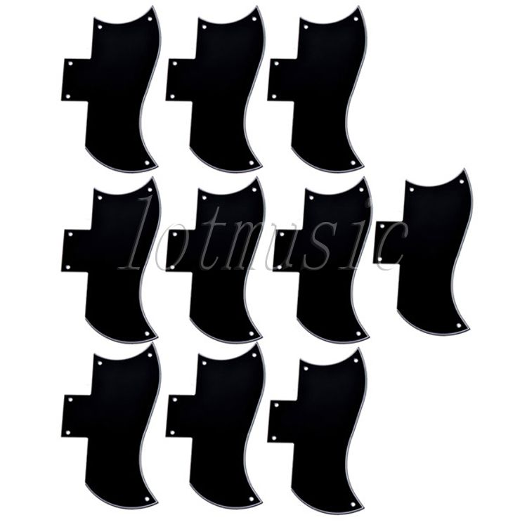 10Pcs  Pickguard 3-Ply Black Scratch Plate New For Guitar Replacement