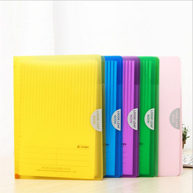 B5 Business Colored Translucent PP Cover Binder Multifunctional Spiral Planner Office School Supplies 26 Holes Binder Planners