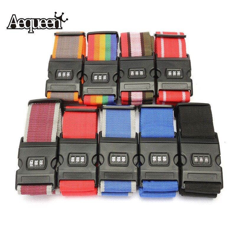 1pcs 2018 new Adjustable Luggage Strap Password Lock Suitcase Strap Accessories Baggage Bag Belt with Tag Smart Tool
