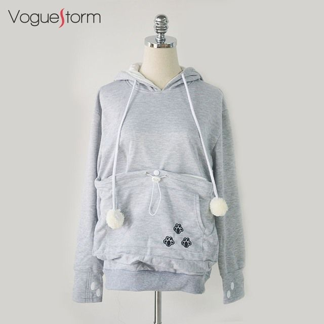 2016 New Big Cat Hoodie Kangaroo Kangaroo Pouch Pocket pet Cat Slave Couple Hooded Sweatshirt