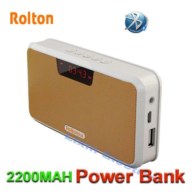 Rolton Portable Mini Buetooth Speaker Box Support Hands-Free Phone Call/TF Card/MP3/FM Radio/Earphones/LED Light/Record Sounds