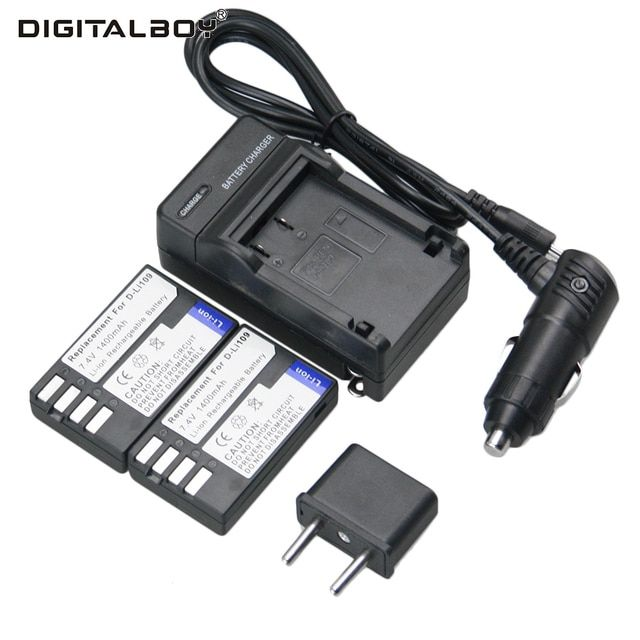 2CPS High Quality D-LI109 D LI109 Rechargeable Batteries Camera Battery And Charger For PENTAX K-R K-2 KR K2 KR K-r