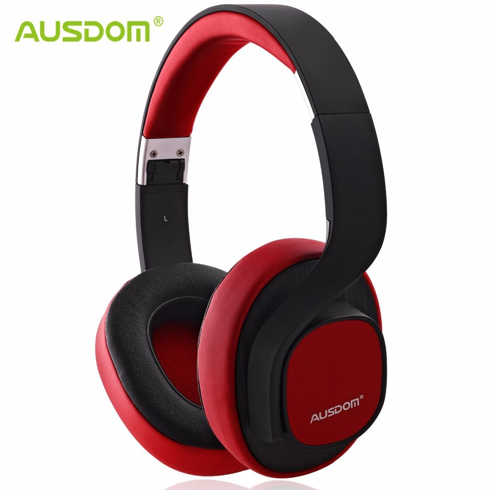 Ausdom M08 Wired Wireless Bluetooth Headphones Foldable Deep Bass Stereo Headset Soft Earphone with Mic for TV PC Phone Sport