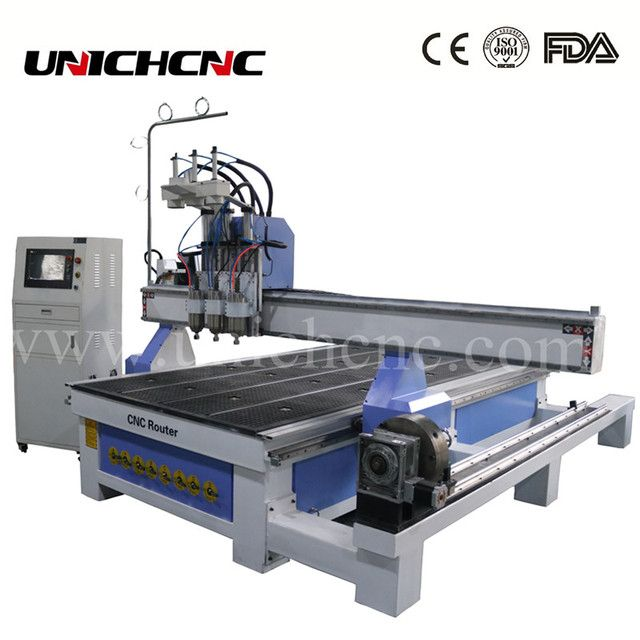 Best service cnc router machine three process with the side rotary