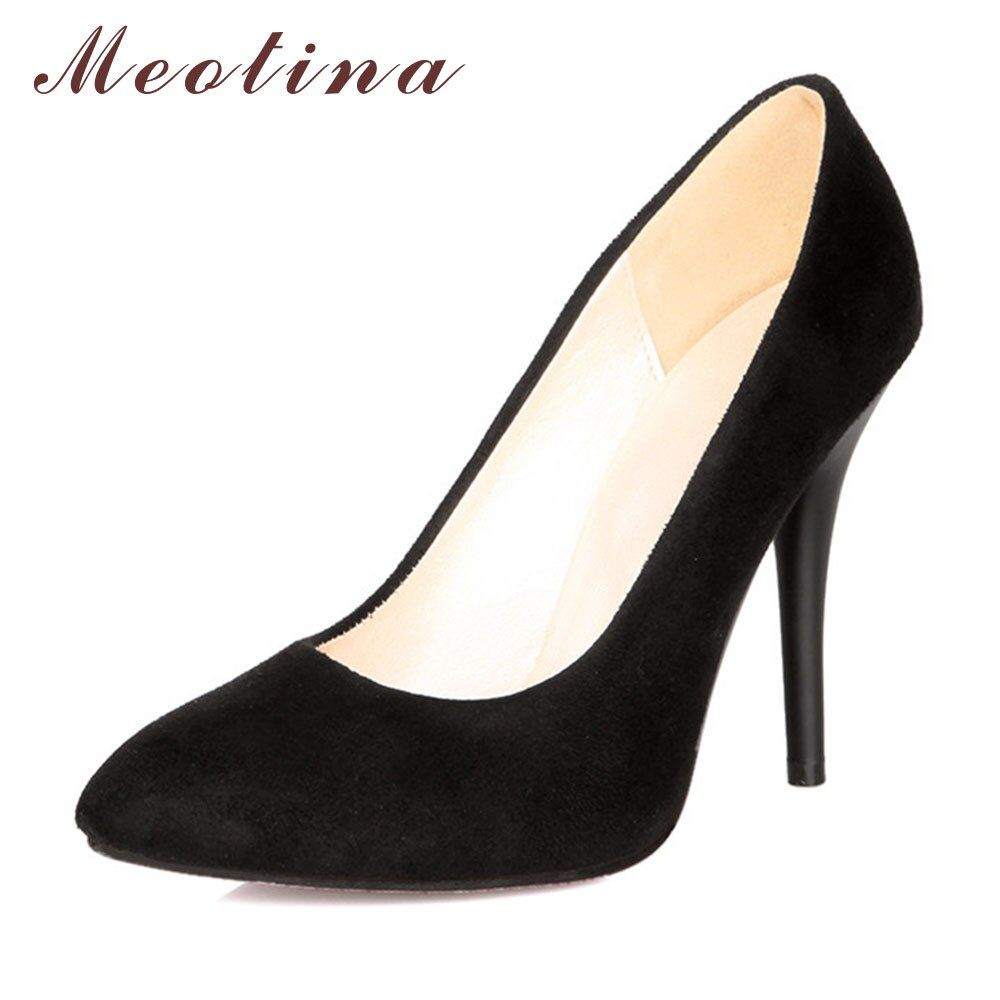 Meotina High Heels Shoes Women Pointed Toe Sexy High Heels Ladies Shoes Party Pumps Stiletto Blue Black Large Size 9 10 43