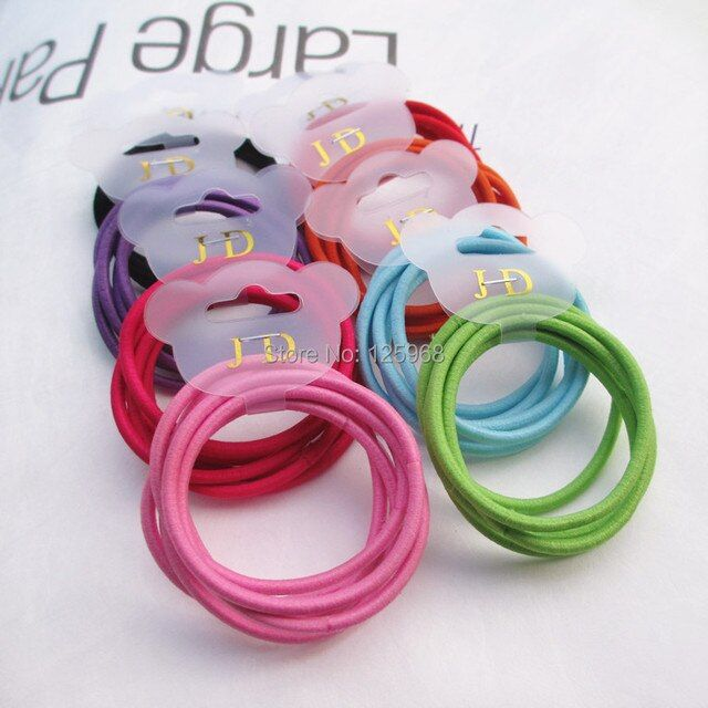 Free Shipping,2014 Wholesale 3mm Thickness Girls Women Hair Accessaries Hair Bands Elastic Ropes Ties Ponytail Holder 8 Colors
