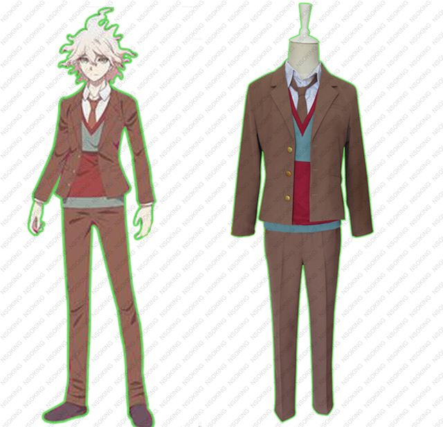 DanganRonpa 3 School Uniform Dangan Ronpa Komaeda Nagito Cosplay Costumes