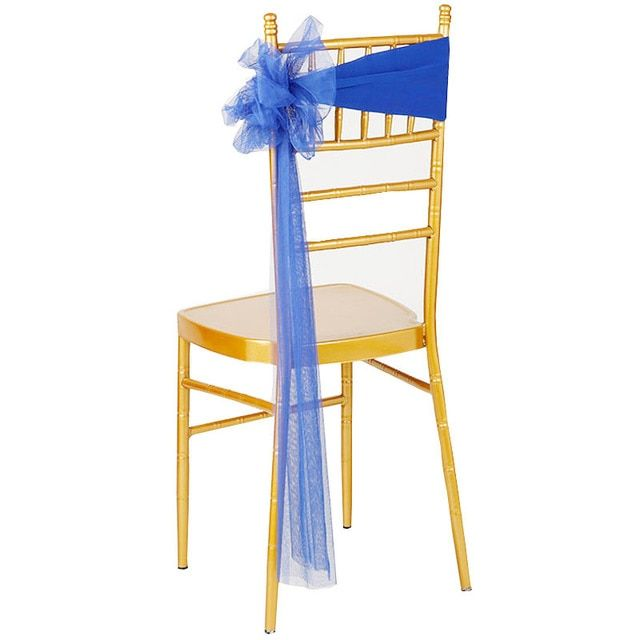 new elastic chair sashes noeud chaises lycra mariage royal blue wedding chair sashes 2017