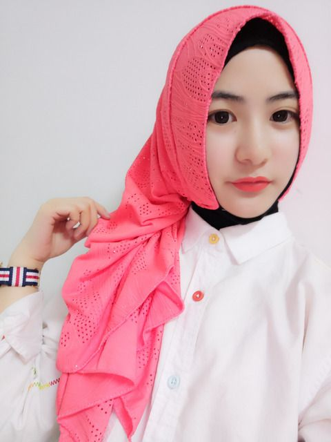 H1088 new style muslim long scarf with holes and glitters,fast delivery