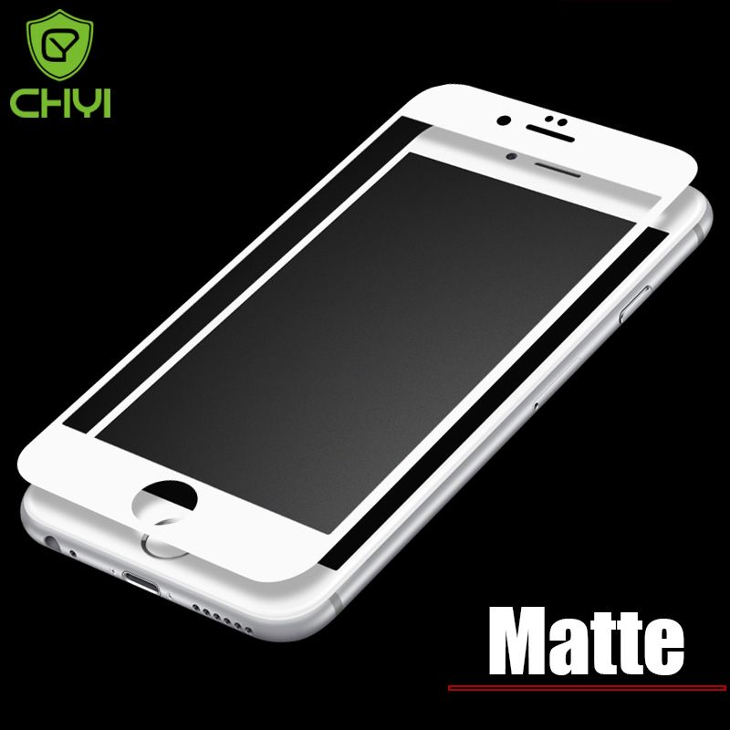 9H Full Screen Frosted Tempered Glass For iphone 6 6s 6G CHYI Brand Oleophobic Coating Matte Glass For iphone6 Protective