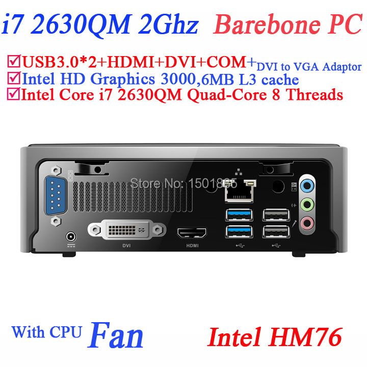 Cheapest barebone mini pc,micro pc mini computer for office with Intel Quad Core i7 2630M 2.0Ghz