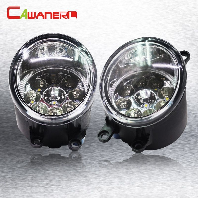 Cawanerl 1 Pair H8 H11 Auto Fog Light DRL Daytime Running Light Car LED Light For Toyota Avensis T25 Combi (T25) Estate Saloon