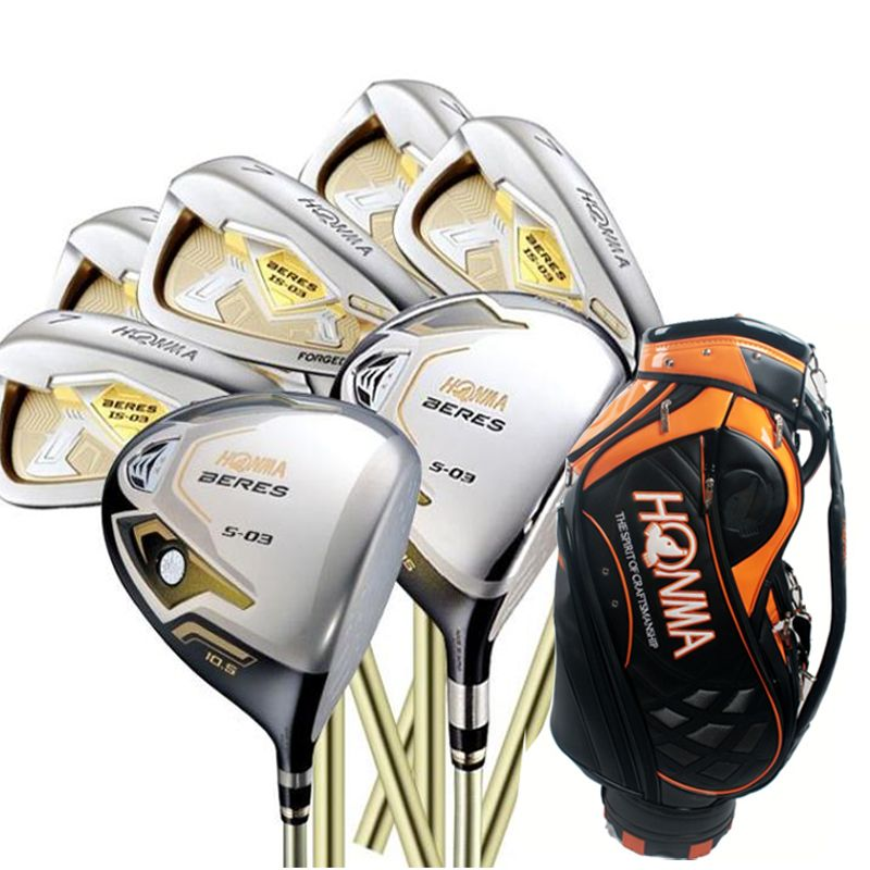 Cooyute New mens Golf clubs HONMA S-03 3star Compelete set Golf Driver+3/5wood+irons+bag Graphite Golf shaft free shipping