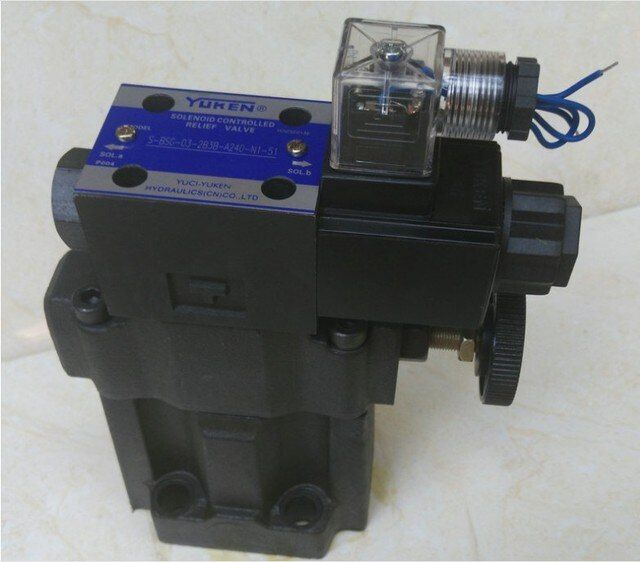 YUCI YUKEN overflow valve S-BSG-10-2B with low noise high pressure solenoid valve