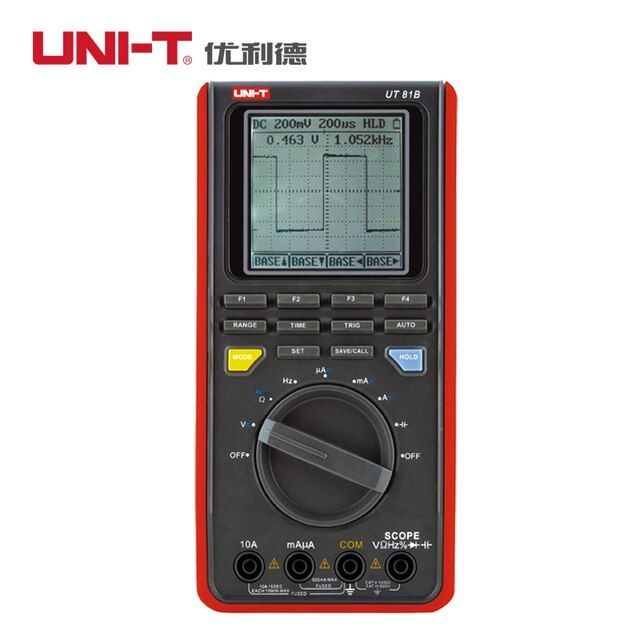UNI-T UT81B 8MHz 40MS/s Real-Time Sample Rate Handheld LCD Scopemeter Oscilloscope Digital Multimeter