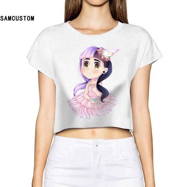 SAMCUSTOM Tumblr Limited Blusa Unicorn 2017 Women Summer Fashion T Shirt Cry Baby Bare-midriff Sexy Crop Top T-shirt
