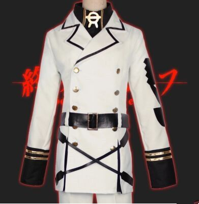seraph of the end cosplay for men anime cosplay anime warrior costume for men white anime suit