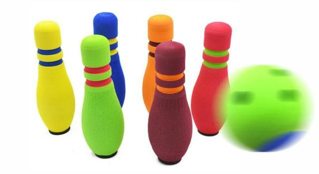 Eco-friendly rubber Bowling balls 20CM height Bowling bottle  Bowling set Children sports toy