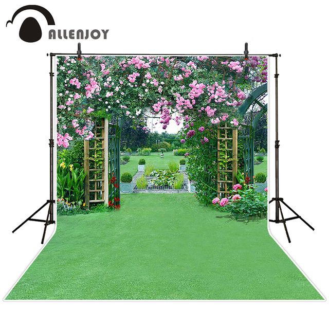 Allenjoy photographic background Lawn wedding flower arches backdrops princess christmas photo Excluding bracket 150x200cm